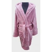 Детский халат с капюшоном велсофт нежно розовый, Турция