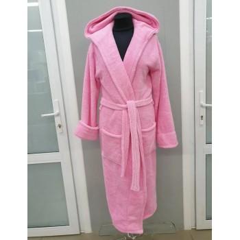Халат махровый женский длинный Wellsoft розовый