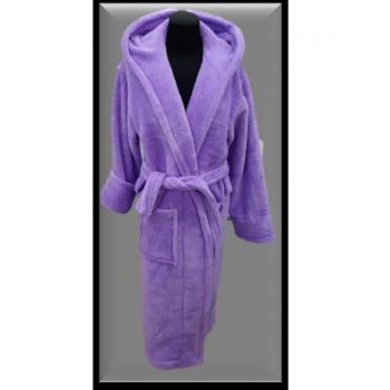 Халат махровый женский длинный Wellsoft фиолетовый