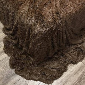 Плед-покрывало с длинным ворсом Chocolate фото 1