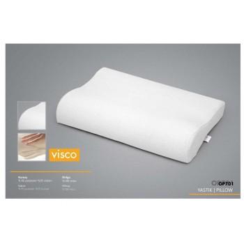 Ортопедическая подушка для сна из пены Visco, 40х60, белая фото 1