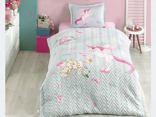 Детское покрывало на кровать стеганое с наволочкой PEGASUS 13838 от Aran Сlasy в интернет-магазине PannaTeks