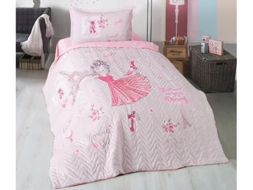 Детское покрывало на кровать стеганое с наволочкой ROMANTIC GIRL 14206 от Aran Сlasy в интернет-магазине PannaTeks