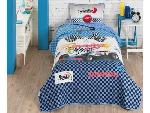 Покрывало детское стеганое с наволочкой RACING 14266 от Aran Сlasy в интернет-магазине PannaTeks