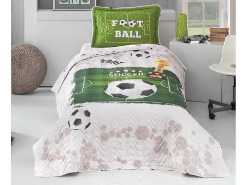 Покрывало детское на кровать стеганое с наволочкой SOCCER V1 14383 от Aran Сlasy в интернет-магазине PannaTeks