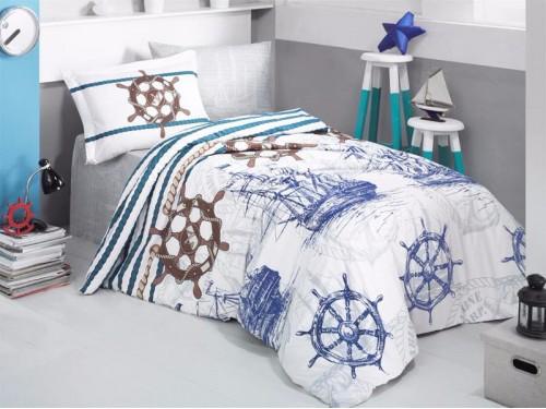 Детское покрывало на кровать стеганое MARINE Турция 14384 от Aran Сlasy в интернет-магазине PannaTeks