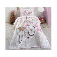 Детское покрывало на кровать стеганое PARIS-LOVE Турция
