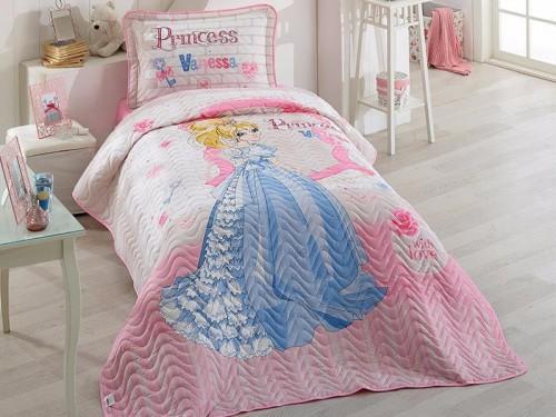 Покрывало детское на кровать стеганое с наволочкой VANESSA 12690 от Aran Сlasy в интернет-магазине PannaTeks