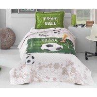 Покрывало детское на кровать стеганое с наволочкой SOCCER V1