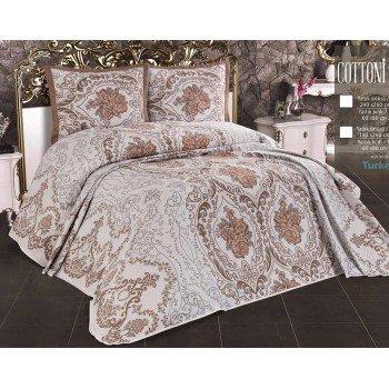 Хлопковое покрывало на кровать с наволочками Alara 240х260 Ambiance Ibiza Турция