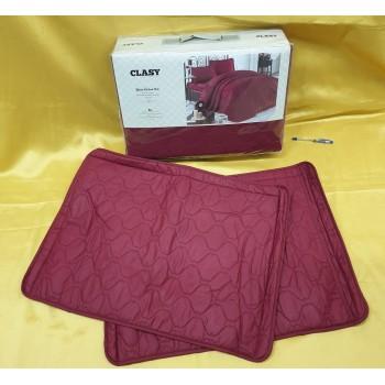 Стеганое покрывало на кровать с наволочками, Евро 240х260 RABEL V2 красное, Турция фото 1