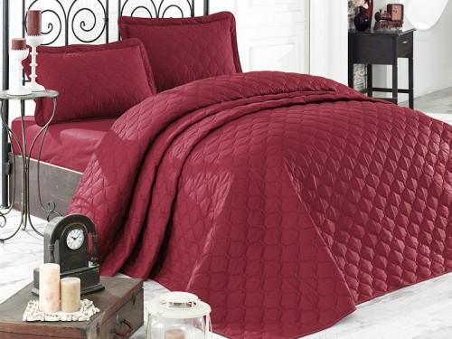Стеганое покрывало на кровать с наволочками, Евро 240х260 RABEL V2 красное, Турция 13623 от Aran Сlasy в интернет-магазине PannaTeks