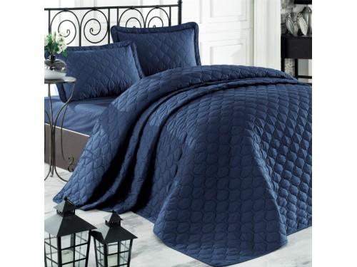 Стеганое покрывало на кровать синее RABEL V9 Турция 17534 от Aran Сlasy в интернет-магазине PannaTeks