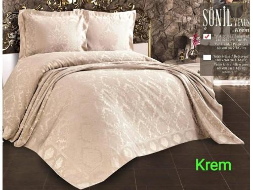 Покрывало жаккардовое с наволочками VENUS KREM 13714 от Zeron в интернет-магазине PannaTeks