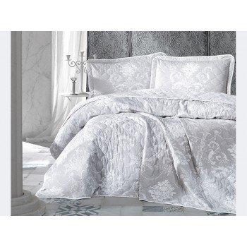 Стеганое покрывало на кровать с наволочками, Евро 240х260 Alone V1, Турция