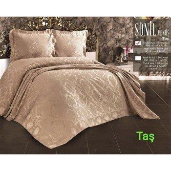 Турецкое покрывало на кровать жаккардовое 240х260 Venus Tas Евро, Zeron