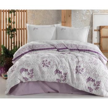 Стеганое покрывало на кровать с наволочками, Евро 240х260 Lavenda, Турция