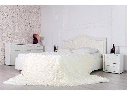 Плед-покрывало с длинным ворсом Cream 16118 от Koloco в интернет-магазине PannaTeks