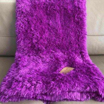 Плед-покрывало с длинным ворсом Lilac