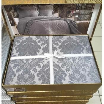 Покрывало жаккардовое с наволочками VENUS GRI Турция фото 1