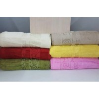 Полотенца бамбуковые (сауна) 100x150 (6 шт.) Турция 13115