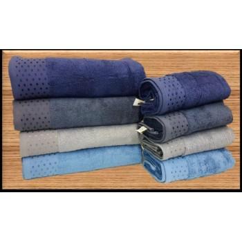 Полотенца бамбуковые 50x90 Blue (4 шт.) Турция фото 1