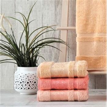 Полотенца бамбуковые 70x140 Peach (3 шт.) Турция 16037 от Zeron в интернет-магазине PannaTeks