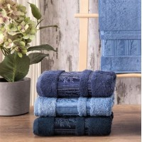 Полотенца бамбуковые 50x90 Blue (3 шт.) Турция