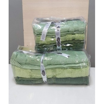 Полотенца бамбуковые 50x90 Green (3 шт.) Турция фото 1