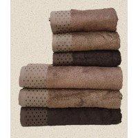 Полотенца бамбуковые 50x90 Brown (3 шт.) Турция