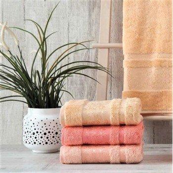 Полотенца бамбуковые 50x90 Peach (3 шт.) Турция 16039 от Zeron в интернет-магазине PannaTeks