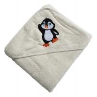 """Полотенце детское с капюшоном """"Пингвин"""""""
