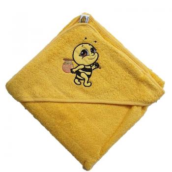 """Полотенце детское с капюшоном """"Пчелка"""""""