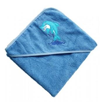 """Полотенце детское с капюшоном """"Дельфин"""""""