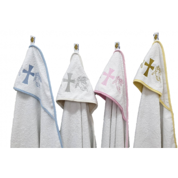 Крыжма для крещения с капюшоном и вышивкой 92x92, Турция, 15690 фото 1