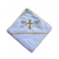 Крыжма для крещения с капюшоном 92x92, Турция 15690