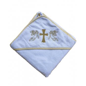 Крыжма для крещения с капюшоном и вышивкой 92x92, Турция, 15690 15690 от Zeron в интернет-магазине PannaTeks
