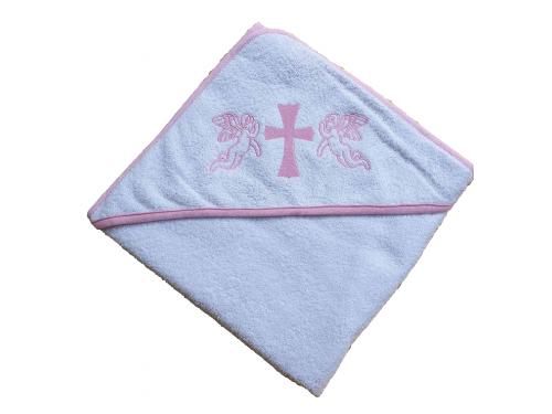 Крыжма для крещения с капюшоном и вышивкой 92x92, Турция, 15692 15692 от Zeron в интернет-магазине PannaTeks