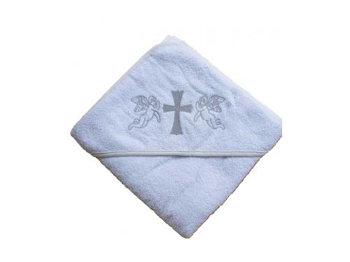 Крыжма для крещения с капюшоном и вышивкой 92x92, Турция, 15693 15693 от Zeron в интернет-магазине PannaTeks