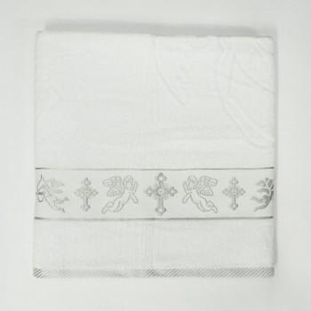 Крыжма для крещения махровая с вышивкой 90x150, Турция, 16522 фото 1
