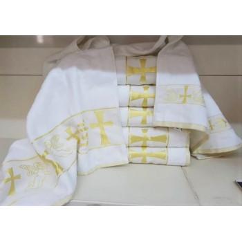Крыжма для крещения махровая с вышивкой 70x140, Турция, 16519 фото 2