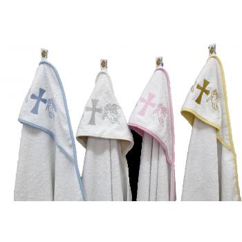 Крыжма для крещения с капюшоном и вышивкой 92x92, Турция, 15691 фото 2