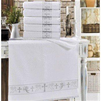 Крыжма для крещения махровая с вышивкой 90x150, Турция, 16522 16522 от Zeron в интернет-магазине PannaTeks
