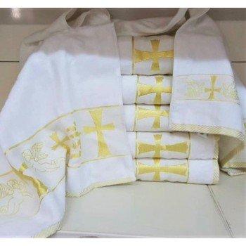 Крыжма для крещения махровая с вышивкой 90x150, Турция, 16521 16521 от Zeron в интернет-магазине PannaTeks