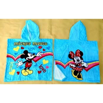 """Детское полотенце пончо 60x120 """"Микки Маус"""" фото 2"""