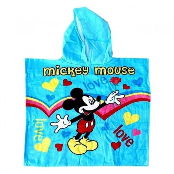 Детское пляжное полотенце с капюшоном 60x120 Микки Маус