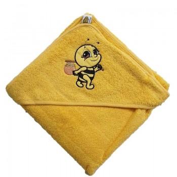 Полотенце для новорожденного с капюшоном Пчелка