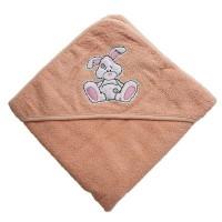 Полотенце уголок для новорожденного Зайчик