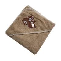 Полотенце для новорожденного с капюшоном Белочка