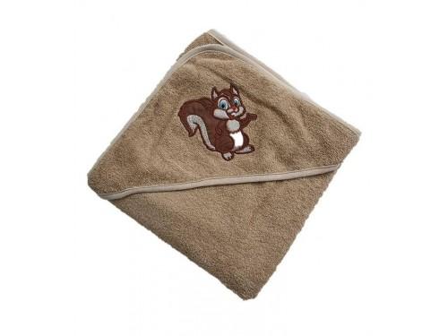 Полотенце для новорожденного с капюшоном Белочка 15686 от Zeron в интернет-магазине PannaTeks